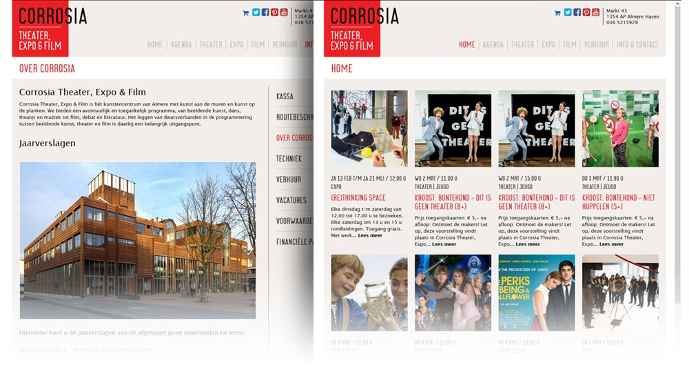 Corrosia vernieuwde website | Tuesday