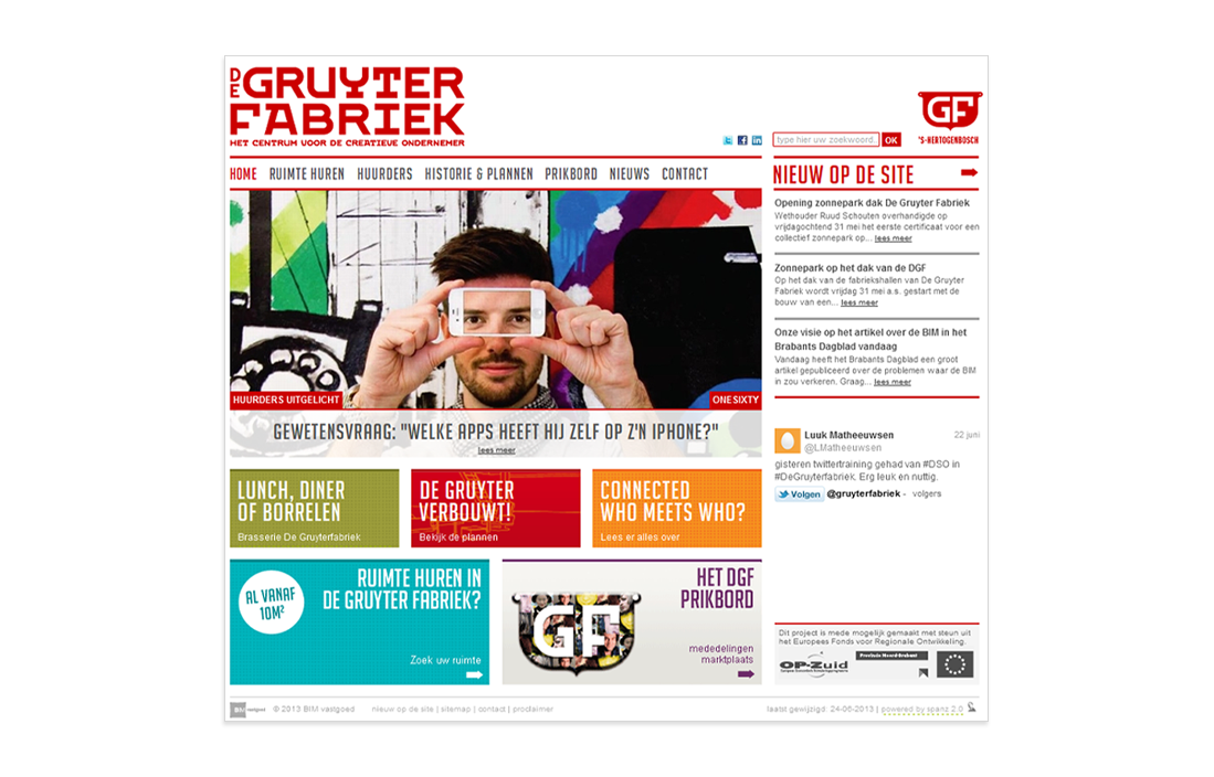 Website van De Gruyter Fabriek