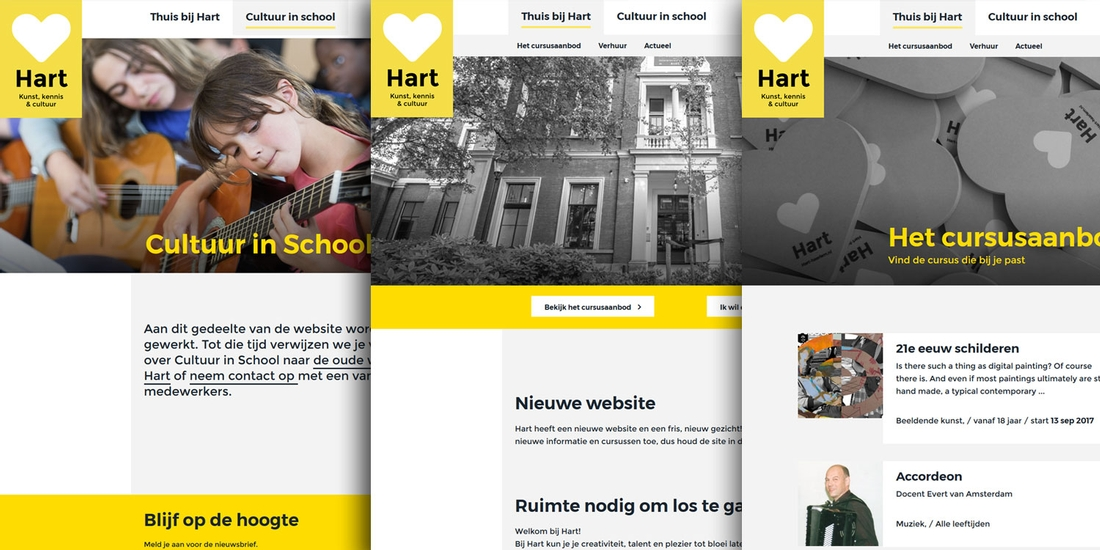 Hart Haarlem sites | Tuesday Multimedia