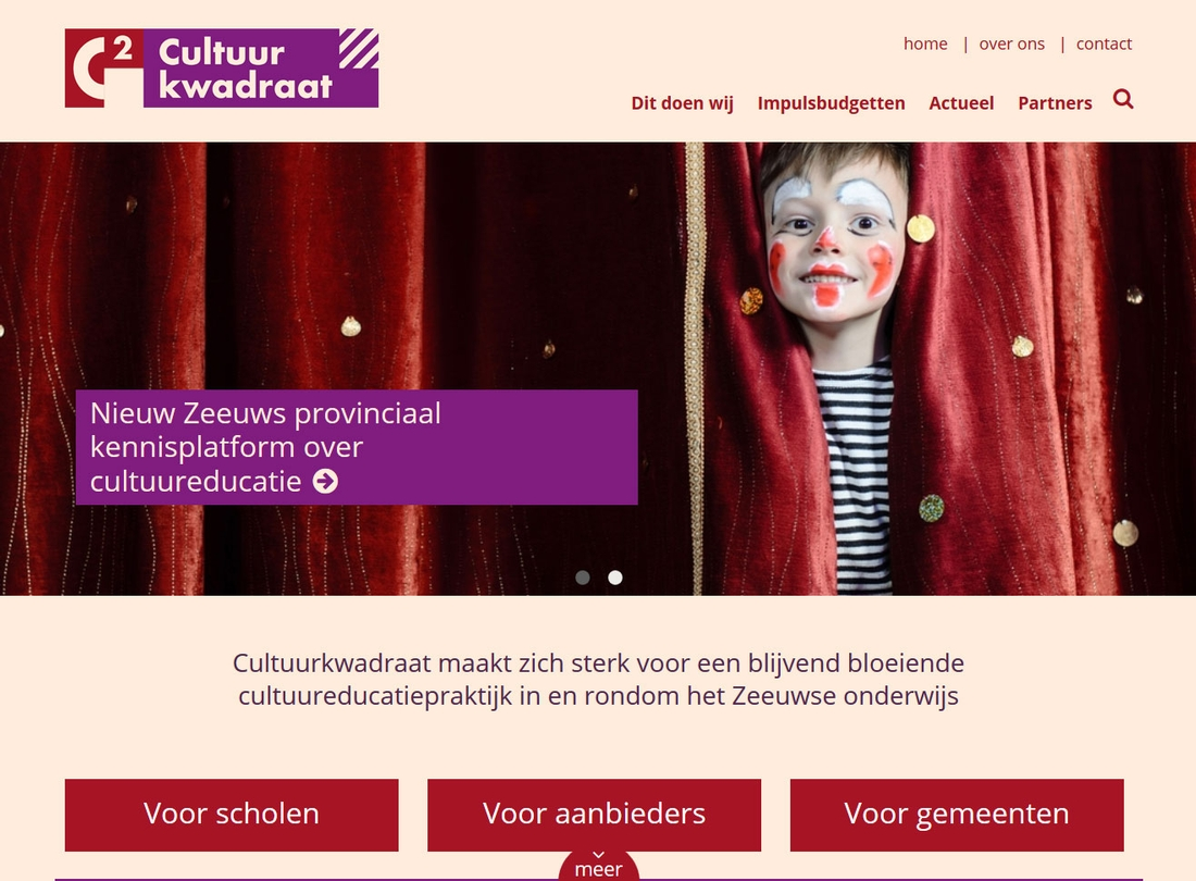 Cultuurkwadraat website | Tuesday Multimedia