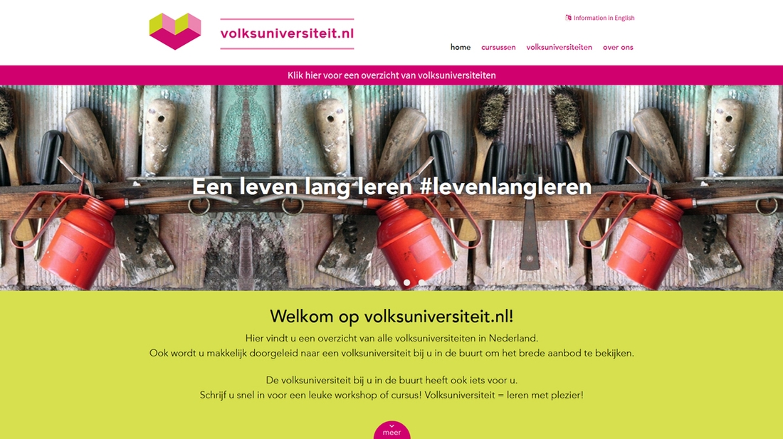 Volksuniversiteiten website | Tuesday Multimedia